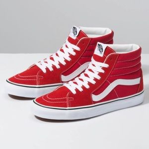 Vans SK8-Hi Racing Red/White High Tops